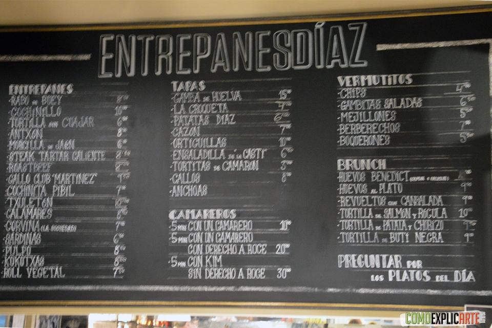 Entrepanes Díaz - Pizarra